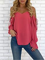 Недорогие -женская блузка - однотонный ремешок