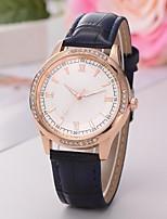 Недорогие -Жен. Наручные часы Кварцевый Стеганная ПУ кожа Черный / Белый / Синий Повседневные часы Аналоговый Мода Элегантный стиль - Коричневый Синий Розовый