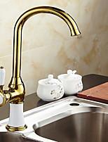 Недорогие -кухонный смеситель - Одной ручкой одно отверстие Электропокрытие Стандартный Носик Другое Обычные Kitchen Taps