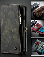 Недорогие -CaseMe Кейс для Назначение Huawei P20 Pro / Huawei Mate 20 Кошелек / Бумажник для карт / со стендом Чехол Однотонный Твердый Кожа PU для Huawei P20 / Huawei P20 Pro / Huawei P20 lite