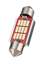 Недорогие -36 39 42mm 12smd 4014 Светодиодная лампа Canbus без ошибок гирлянда внутренняя лампочка белого цвета