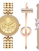 Недорогие -Жен. Наручные часы Кварцевый Золотистый 30 m Очаровательный Творчество Повседневные часы Аналоговый Мода Элегантный стиль - Золотистый Один год Срок службы батареи / Нержавеющая сталь