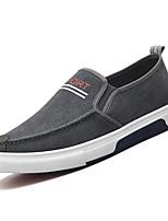 Недорогие -Муж. Комфортная обувь Деним Весна На каждый день Мокасины и Свитер Дышащий Серый / Синий
