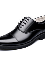 cheap -Men's Formal Shoes Leather / Cowhide Spring & Summer / Fall & Winter Business / Casual Oxfords Breathable Black