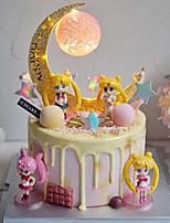 Недорогие -Украшения для торта Классика / Праздник / MOON Художественные / Ретро / Уникальный дизайн пластик Для вечеринок / День рождения с Комбинация материалов 1 pcs Пенополиуретан