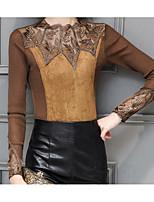 Недорогие -женская футболка азиатского размера - цвет блока шею