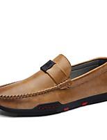 Недорогие -Муж. Комфортная обувь Полиуретан Весна Мокасины и Свитер Черный / Серый / Желтый