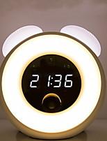 Недорогие -1шт Музыкальный будильник LED Night Light Тёплый белый USB Творчество
