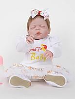 Недорогие -FeelWind Куклы реборн Кукла для девочек Девочки 22 дюймовый Полный силикон для тела Силикон Винил - как живой Ручная Pабота Очаровательный Безопасно для детей Дети / подростки Non Toxic Детские