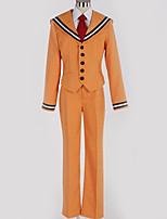 Недорогие -Вдохновлен Косплей Косплей Аниме Косплэй костюмы Школьная форма Однотонный Пальто / Блузка / Кофты Назначение Муж. / Жен.