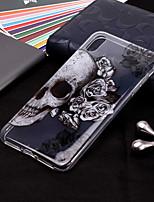Недорогие -Кейс для Назначение Apple iPhone XR / iPhone XS Max Прозрачный / С узором Кейс на заднюю панель Черепа Мягкий ТПУ для iPhone XS / iPhone XR / iPhone XS Max