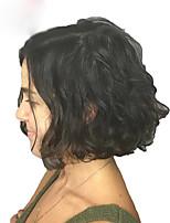 Недорогие -человеческие волосы Remy Полностью ленточные Лента спереди Парик Стрижка боб стиль Бразильские волосы Естественные волны Парик 130% 150% 180% Плотность волос