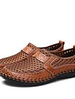 Недорогие -Муж. Комфортная обувь Сетка Весна На каждый день Мокасины и Свитер Дышащий Коричневый / Зеленый / Синий