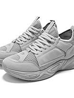 Недорогие -Муж. Комфортная обувь Искусственная кожа Весна & осень На каждый день Кеды Дышащий Черный / Серый / Желтый
