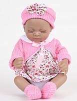 Недорогие -FeelWind Куклы реборн Кукла для девочек Девочки Африканская кукла 12 дюймовый Полный силикон для тела Силикон Винил - как живой Ручная Pабота Очаровательный Безопасно для детей Дети / подростки Non