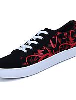 Недорогие -Муж. Комфортная обувь Полиуретан Весна На каждый день Кеды Дышащий Контрастных цветов Черно-белый / Черный / Красный / Черный / синий