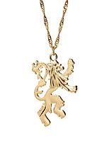 Недорогие -Муж. Ожерелья с подвесками - Золотой 19.685 дюймовый Ожерелье Бижутерия 1шт Назначение Повседневные