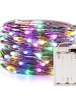 Недорогие -Огни из медной проволоки ZDM Fairy String 5 м / 16,5 фута 50 светодиодов с 7 различными цветами RGB