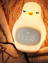 Недорогие -1шт птенец LED Night Light Желтый Аккумуляторы AA / USB Для детей / Творчество 5 V