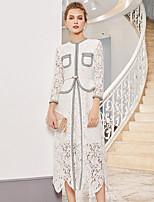 Недорогие -Жен. Элегантный стиль Оболочка Платье Средней длины