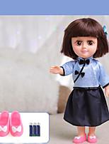 Недорогие -Кукла для девочек Модная кукла Говорящая игрушка Девочки 14 дюймовый Силикон - Smart как живой Дети / подростки Детские Универсальные Игрушки Подарок