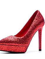 Недорогие -Жен. Полотно Лето Обувь на каблуках На шпильке Золотой / Серебряный / Красный