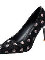 Недорогие -Жен. Полиуретан Весна Обувь на каблуках На шпильке Заостренный носок Белый / Черный / Розовый
