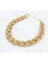 Недорогие -Жен. Плетение Винтажное ожерелье - модный, гипербола Cool Золотой 43 cm Ожерелье Бижутерия 1шт Назначение Повседневные, Для клуба