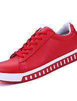 Недорогие -Муж. Комфортная обувь Полиуретан Весна На каждый день Кеды Дышащий Черный / Красный / Синий