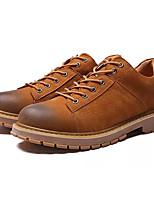 Недорогие -Муж. Комфортная обувь Полиуретан Весна & осень На каждый день Туфли на шнуровке Нескользкий Черный / Серый / Коричневый