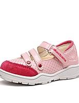 Недорогие -Девочки Обувь Свиная кожа Весна & осень Обувь для малышей На плокой подошве для Дети (1-4 лет) Белый / Черный / Розовый