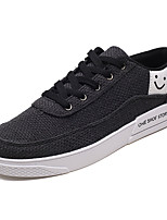 Недорогие -Муж. Комфортная обувь Лён Весна На каждый день Кеды Дышащий Черный / Бежевый / Серый