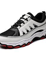 Недорогие -Муж. Комфортная обувь Сетка Наступила зима На каждый день Кеды Белый / Черный