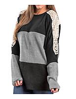 Недорогие -женская тонкая футболка - цвет блока шею