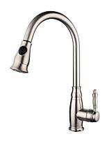 Недорогие -кухонный смеситель - Одной ручкой одно отверстие Высокий / High Arc Современный Kitchen Taps