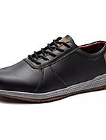 Недорогие -Муж. Комфортная обувь Полиуретан Весна & осень На каждый день Кеды Нескользкий Черный