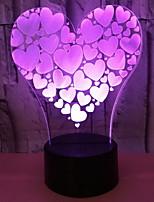 Недорогие -1шт LED Night Light Аккумуляторы AA Дистанционно управляемый / Творчество 5 V
