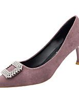 Недорогие -Жен. Полиуретан Весна На каждый день Обувь на каблуках На шпильке Стразы Бежевый / Синий / Розовый
