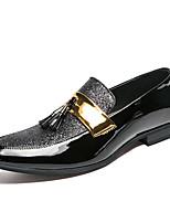 Недорогие -Муж. Комфортная обувь Полиуретан Весна Мокасины и Свитер Черный / Серебряный