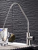 Недорогие -кухонный смеситель - Одной ручкой одно отверстие Нержавеющая сталь Стандартный Носик Другое Обычные Kitchen Taps