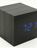 Недорогие -Будильник Цифровой деревянный Светодиодные 1 pcs