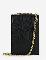 Недорогие -Жен. Мешки PU Мобильный телефон сумка Молнии Черный / Хаки