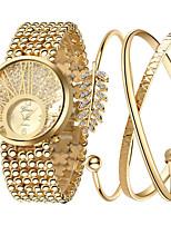 baratos -Mulheres Bracele Relógio Relógio de Pulso Quartzo Dourada 30 m Novo Design Relógio Casual Adorável Analógico Casual Rígida - Dourado Um ano Ciclo de Vida da Bateria