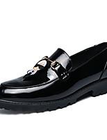 Недорогие -Муж. Комфортная обувь Полиуретан Весна На каждый день Мокасины и Свитер Нескользкий Контрастных цветов Золотой / Черный