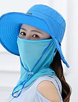 Недорогие -женская полиэфирная шляпа от солнца - геометрическая