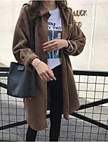 Недорогие -женская рубашка азиатского размера - однотонный воротник