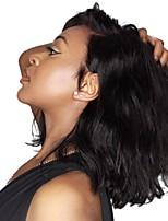 Недорогие -человеческие волосы Remy Лента спереди Парик Бразильские волосы Естественные волны Парик Стрижка боб 130% Плотность волос Подарок Мягкость Натуральный Удобный 100% девственница Нейтральный Жен.