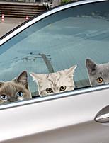 Недорогие -Автомобильные наклейки Дверные наклейки / Наклейки для автомобилей / Обрезка окон Животное 3D-наклейки