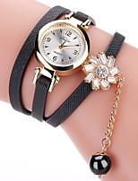 Недорогие -Жен. Наручные часы Кварцевый Кожа Черный / Белый / Коричневый Новый дизайн Аналоговый На каждый день Элегантный стиль - Красный Синий Светло-синий