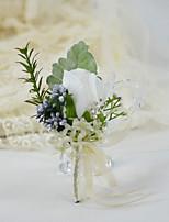 """Недорогие -Свадебные цветы Бутоньерки Свадьба / Свадебные прием Другие материалы / Плексиглас / Ткань 6,3""""(около 16см)"""